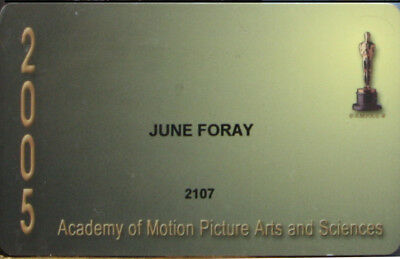 June Foray Signed Academy Membership Card  And Oscars Poster 2005 Double Sided