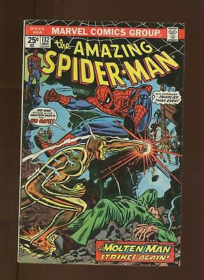 Amazing Spider-Man 132 VG 4.0 * 1 Book * Master Plan of the Molten Man! Romita!