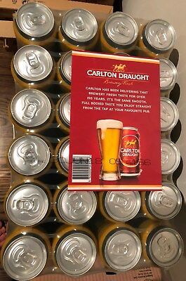 Richmond Tigers Premiership Carlton Draught Beer, slab of 24cans,limited edition