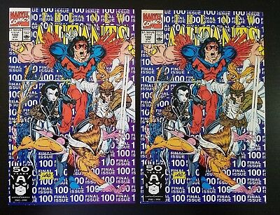 New Mutants #100 (1991) – Cable app., 1st appearance of X-Force – 2 Copies
