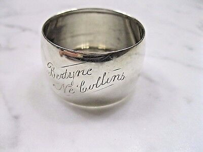 Antique Gorham Sterling Silver Monogrammed Napkin Ring