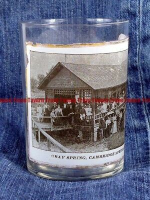 Rare 1900s Image under glass GRAY MINERAL SPRINGS CAMBRIDGE PENNSYLVANIA etched