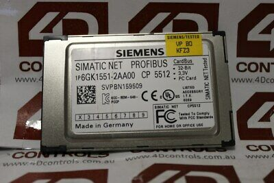 Siemens 6GK1 551-2AA00 SIMATIC NET CP 5512 Communication Processor Module - Used