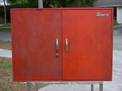 Vintage Snap-on Steel Wall Mountable Tool Cabinet Case With Key