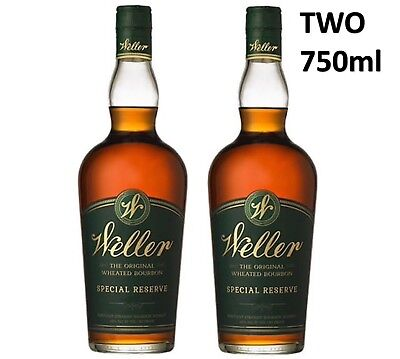 TWO Weller Special Reserve Bourbon Whisky 2x 750ml