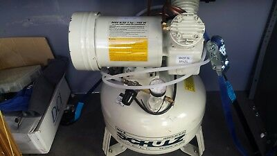 Schulz Dental MSV 6/30 Dual Head Air Compressor OilLess Direct Drive 1HP 2 Chair