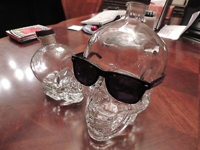 Extra Big 3 liter Glass Crystal Head Vodka Skull Bottle can't be bought n stores