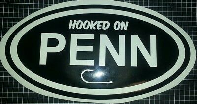 1x 500mm Hooked On Penn fishing sticker reel rod fishing boat have all colours
