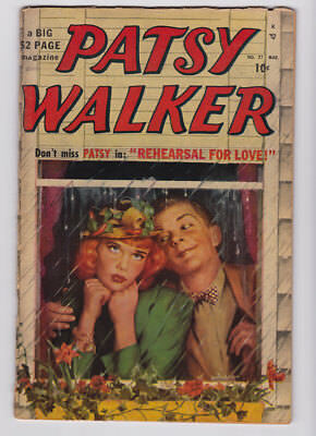 PATSY WALKER # 27 1950 Timely PAINTED COVER Margie NELLIE Al Jaffee G 2.0 JVJ