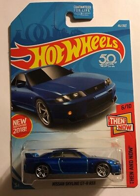 Hot Wheels HW Then And Now 1:64 Diecast Nissan Skyline GTR R33