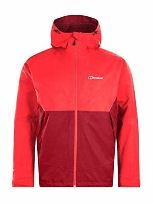 Berghaus Waterproof Fellmaster Men's Outdoor Hooded Jacket available in Red -