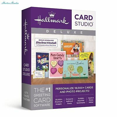 Hallmark Card Studio Deluxe 2018 DVD NEW SEALED