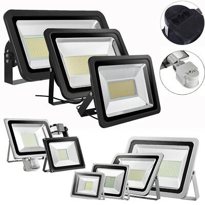 500W 300W 30W 20W LED Floodlight PIR Motion Sensor Outdoor IP65 Security Lamp UK