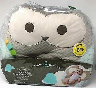 NEW Comfort & Harmony Deluxe Lounge Buddies Infant Positioner Baby Owl Pillow