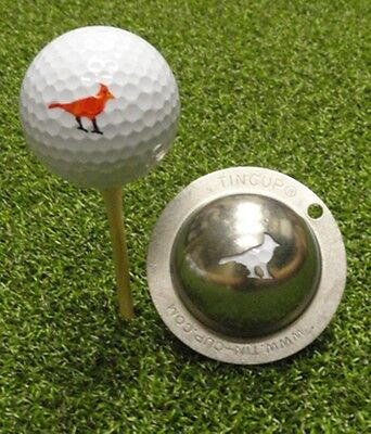 1 only TIN CUP GOLF BALL MARKER - GET IN BIRDIE TERRITORY  & yours for life