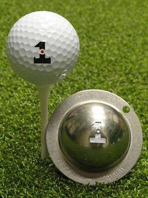 1 only TIN CUP GOLF BALL MARKER - HOLE IN ONE  EASY TO DO & yours for life