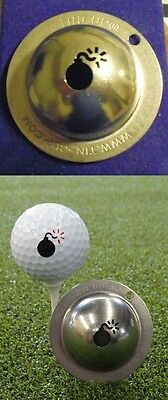 1 only TIN CUP GOLF BALL MARKER - BOMBS AWAY - buy any 2 receive special offer
