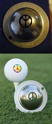 1 only TIN CUP GOLF BALL MARKER -INNER PEACE - BUY ANY 2  CUPS get special offer