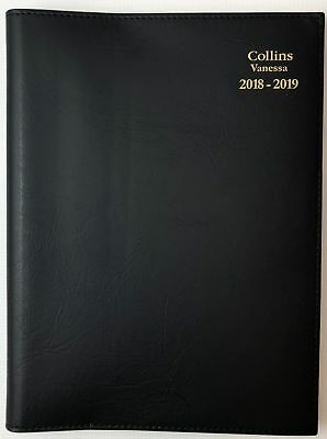 Diary 2018/2019 Fin Year Collins Vanessa A4 Day to Page Black FY145 22x30cm
