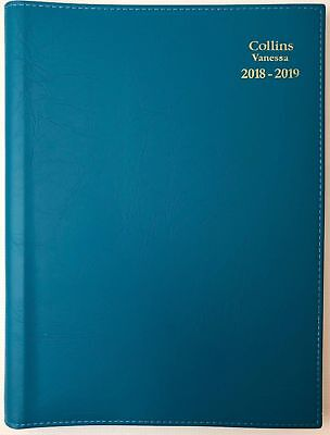 Diary 2018/2019 Fin Year Collins Vanessa A4 Week to View Teal FY345 22x30cm