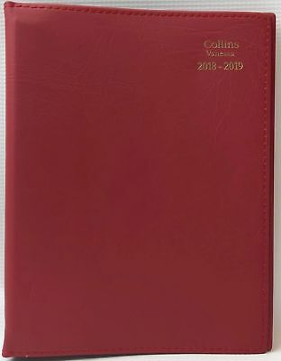 Diary 2018/2019 Financial Year Collins Vanessa A5 Week to View Red FY385 15x22cm
