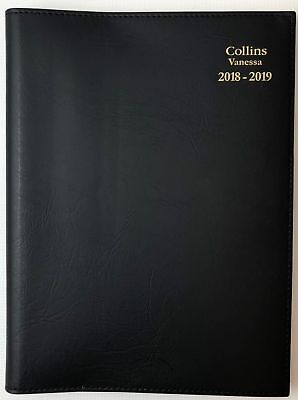 Diary 2018/2019 Fin Year Collins Vanessa A5 Week to View Black FY385 15x22cm