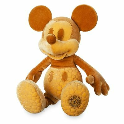 NWT Limited Mickey Mouse Memories February Plush toy Disney Store authentic Gold
