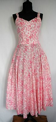 VTG Genuine Liberty of London 50's Pink and white 100% cotton sundress XS/SM