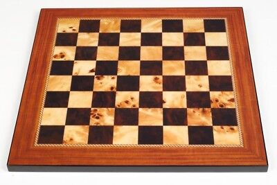 New Dal Rossi Italy Walnut Shiny Finish Chess Board 50cm Board game