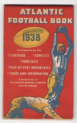 FMRA ATLANTIC FOOTBALL BOOK 1938 WHITE FLASH MOTOR OIL GAS STATION sf097