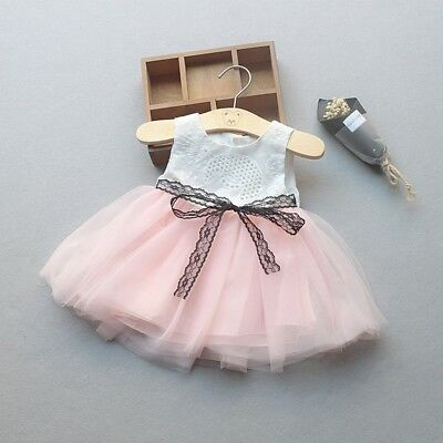 Newborn Baby Girl Sleeveless Kid Tulle Tutu Party Wedding Dress Princess Clothes
