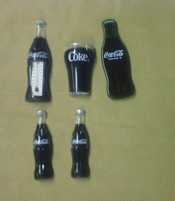Coca Cola Bottle Thermometer Magnet Arjon Coke Cup Green 1993 3D Fridge