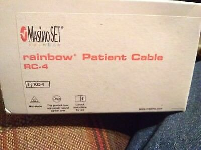 2 Masimo Rainbow RC-4 Rainbow 20-pin Patient Cables PN 2406