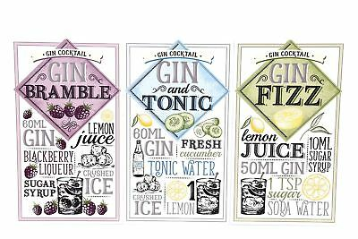 Gin & Tonic Recipe Novelty Wooden Plaque Alcohol Kitchen Sign