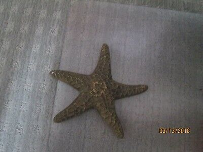 "VINTAGE SOLID BRASS STARFISH 9 "" Decorative Nautical"