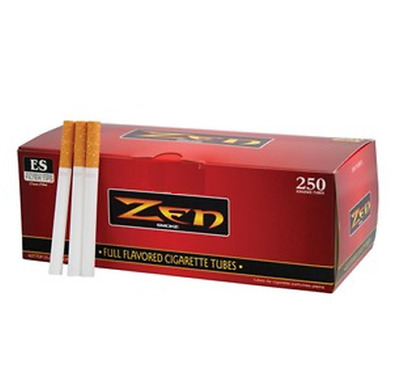 ZEN Red Full Flavor King Size - 10 Boxes - 250 Tubes Box RYO Tobacco Cigarette