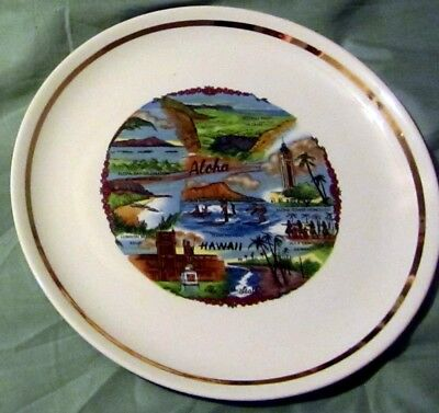 "Vintage State Of Hawaii 9"" Souvenir Plate Abesolutely Mint Condition"