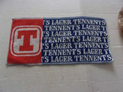 Very Scarce Vintage Tennents Lager Beer Advertising  Serving Towel