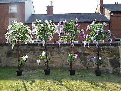 Artificial Wisteria Tree in a Pot with Flowers Potted Office House Plants 5ft