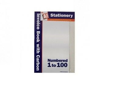UK Full Size A5 Invoice Duplicate Receipt Book Numbered Cash 1 - 100 Pages Pad