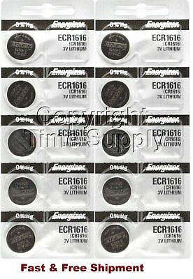 10 x Brand New Original 2PC Energizer CR1616 ECR1616 Coin Cell Battery - Canada