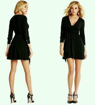 MARCIANO BY GUESS Black Long Sleeves Mini Dress Size M -  79.99 ... 91ef5fd9bd03