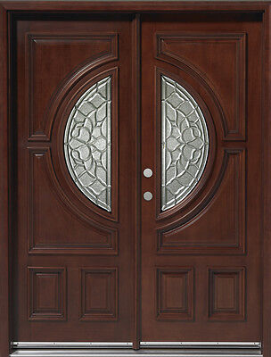 FREE SHIPPING!!!Solid Mahogany Wood Door, Prehung & Finished DMH7587-5