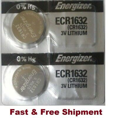 2 x  NEW Energizer Battery CR1632 1632 3v batteries ECR1632 DL1632  EXPIRY 2025