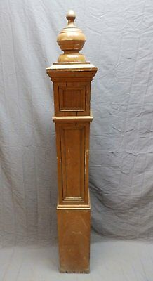 Antique Decorative Oak Newel Post 64x8 Mission Finial Old Vtg Staircase 669-18P