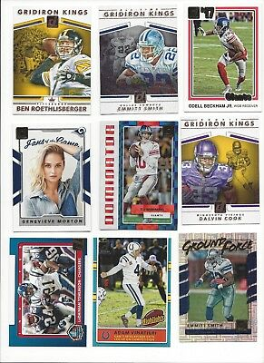 2017 Panini Donruss Football Inserts - Stars, Rc, Hof -    All Listed   - U Pick