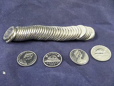 1965 Canada Nickels Proof-Like Uncirculated Roll of 40 Nickels