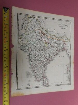 100% Original India Ceylon Bengal Map By Ostell Russell C1825 Vgc Low Start