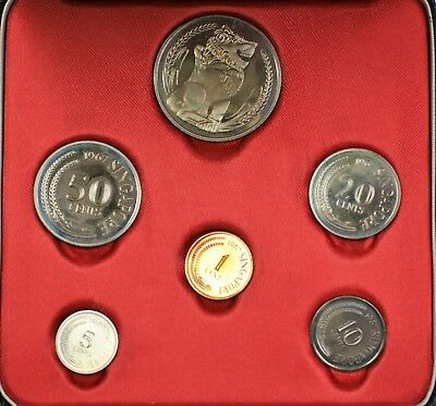 1967 Singapore 6 Coins Gem Proof Set Original Packaging New Issue