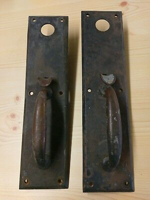 Rare Corbin Vintage Old Antique  Brass / Copper Door Handle and Backing Plate